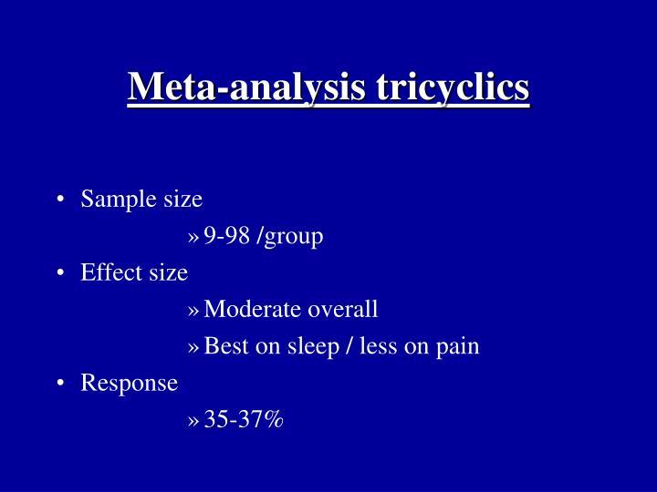 Meta-analysis tricyclics