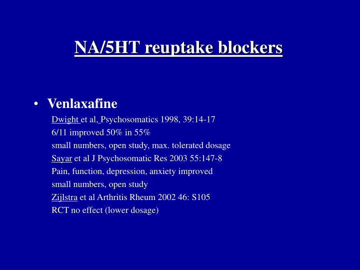 NA/5HT reuptake blockers