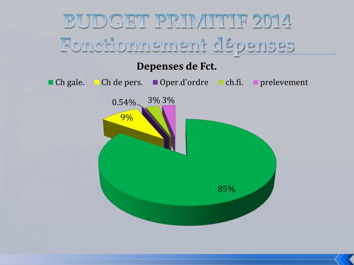 BUDGET PRIMITIF 2014
