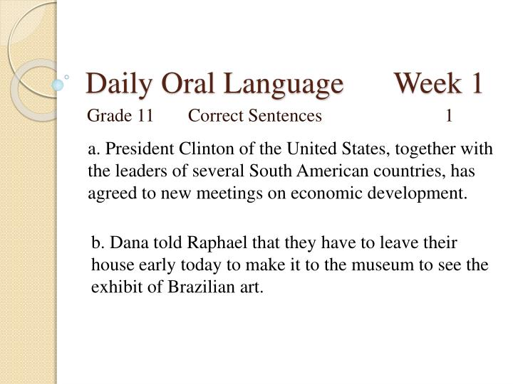 Daily oral language week 11