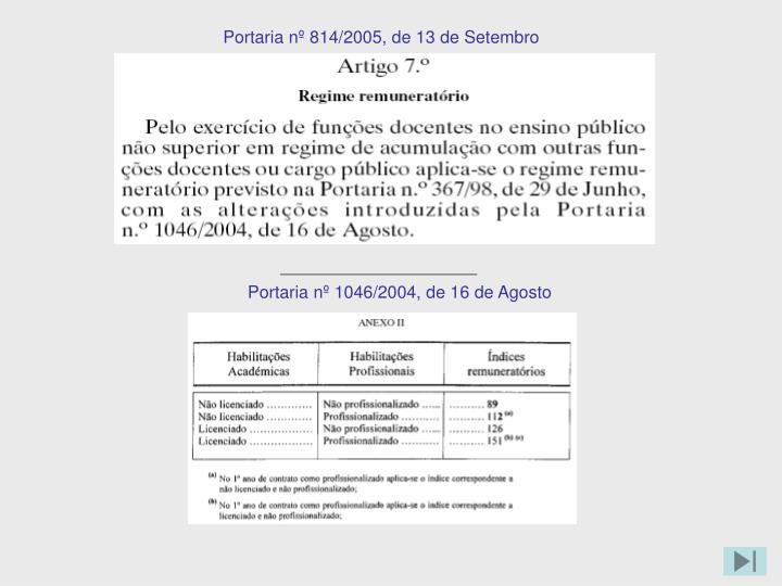 Portaria nº 1046/2004, de 16 de Agosto