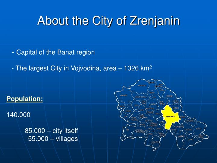 About the City of Zrenjanin