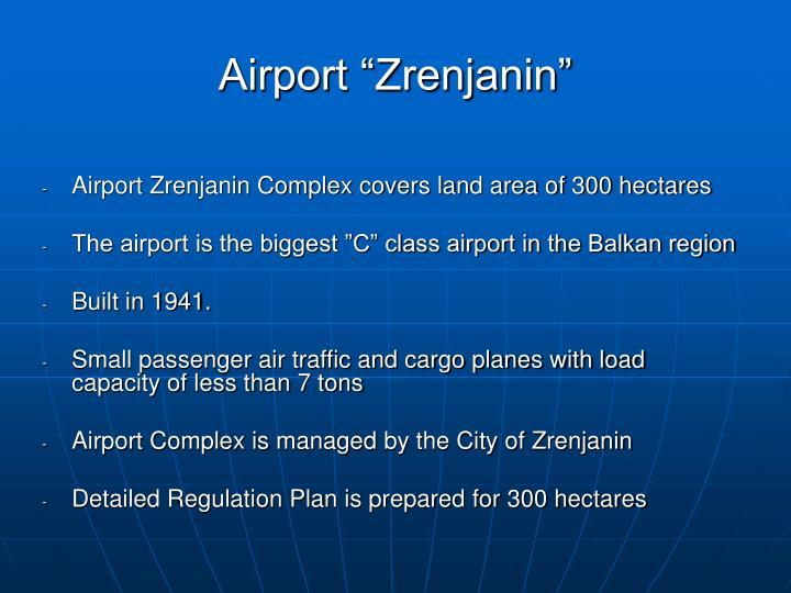 """Airport """"Zrenjanin"""""""