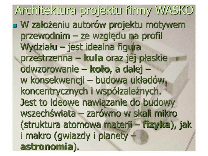 Architektura projektu firmy WASKO