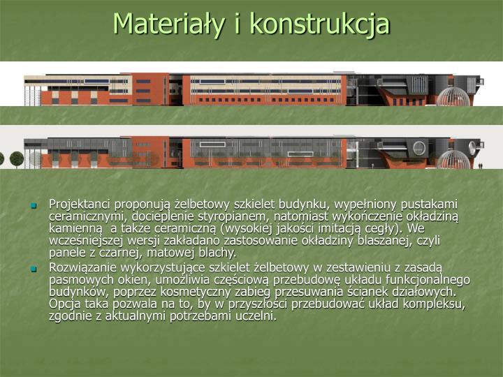 Materiały i konstrukcja