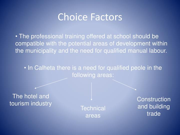 Choice Factors