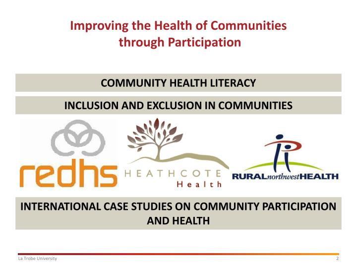 Improving the health of communities through participation