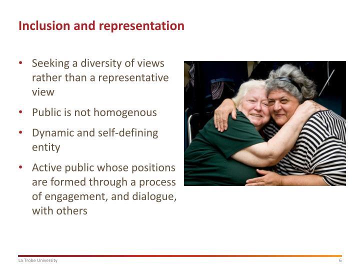 Inclusion and representation