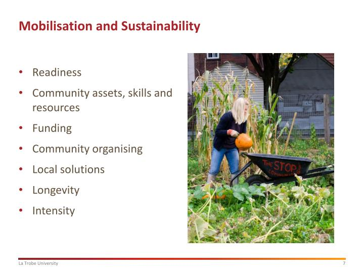 Mobilisation and Sustainability
