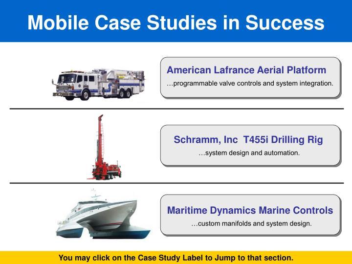 Mobile Case Studies in Success