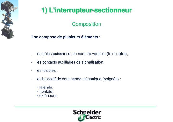 1) L'interrupteur-sectionneur