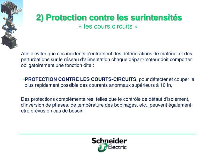 2) Protection contre les surintensités
