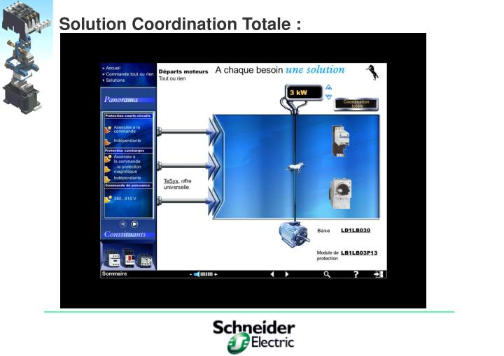 Solution Coordination Totale :