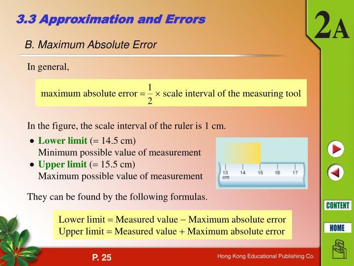 maximum absolute error