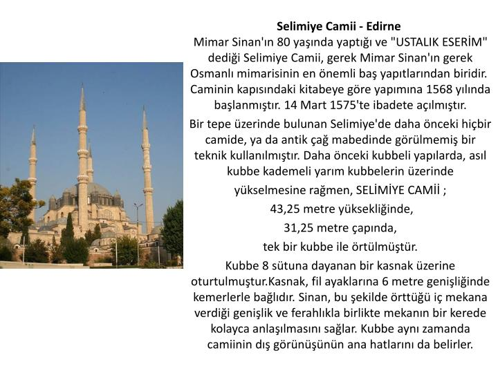Selimiye Camii - Edirne