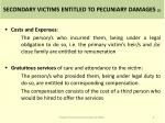 secondary victims entitled to pecuniary damages 1