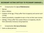 secondary victims entitled to pecuniary damages 2