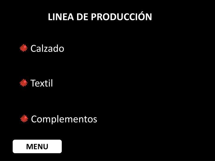LINEA DE PRODUCCIÓN