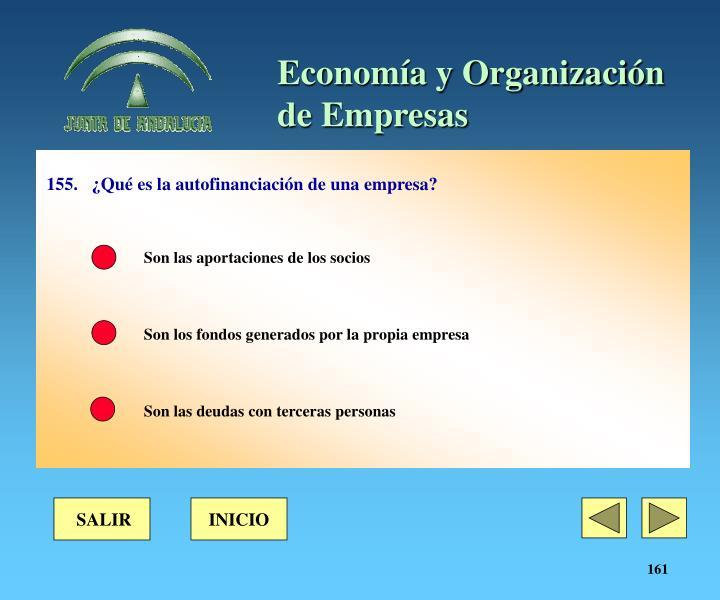 155.¿Qué es la autofinanciación de una empresa?
