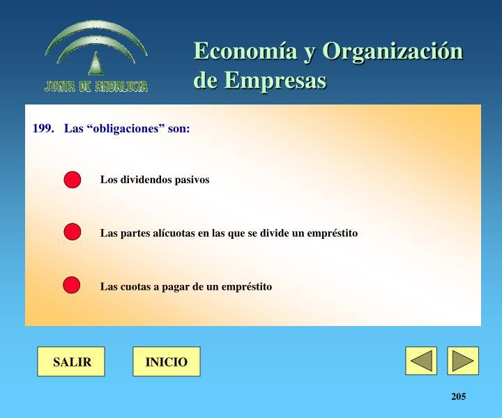 """199.Las """"obligaciones"""" son:"""