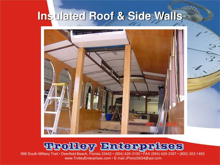 Insulated Roof & Side Walls