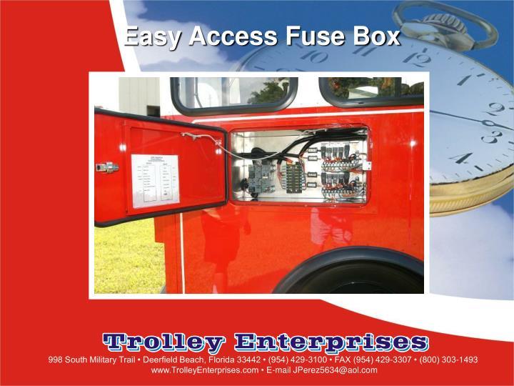 Easy Access Fuse Box