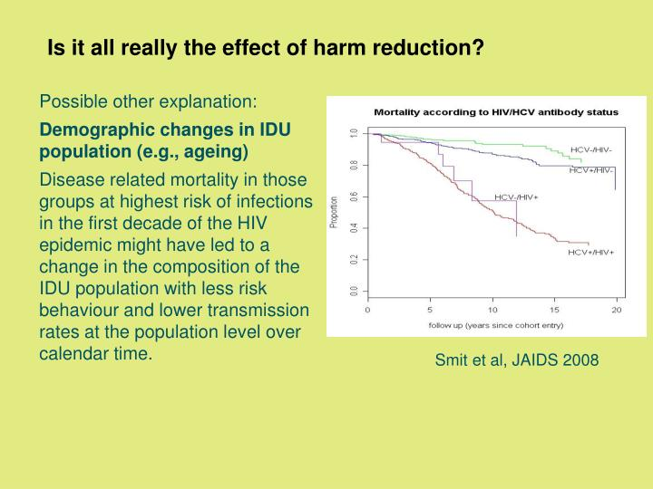 Is it all really the effect of harm reduction?