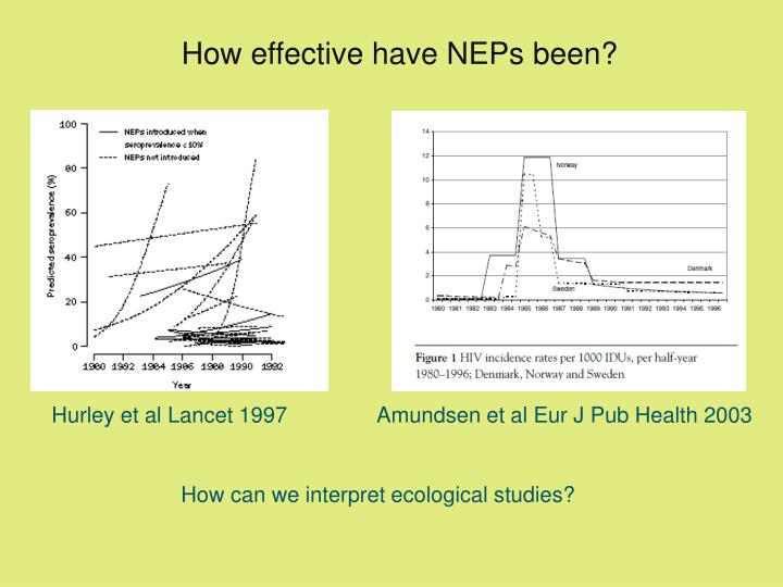 How effective have NEPs been?