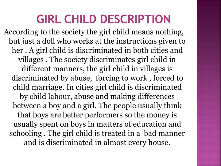 Girl child description