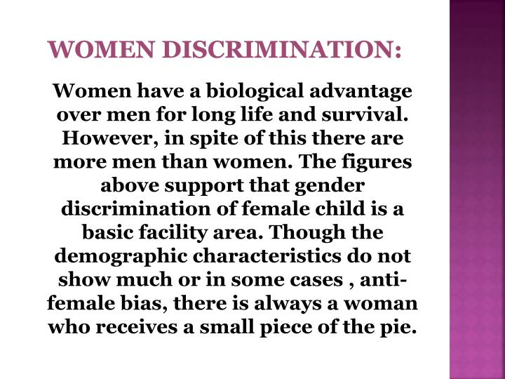 WOMEN DISCRIMINATION: