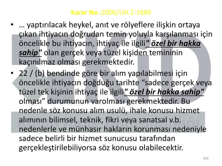 Karar No: