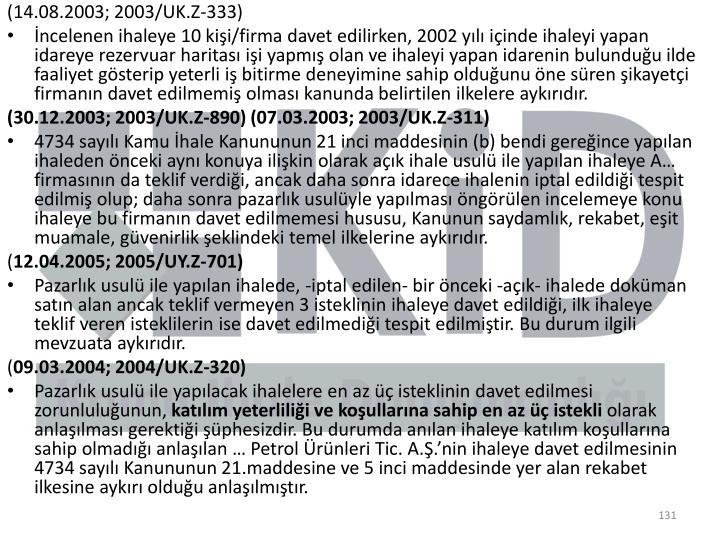 (14.08.2003; 2003/UK.Z-333)