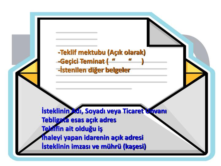 -Teklif mektubu (Açık olarak)