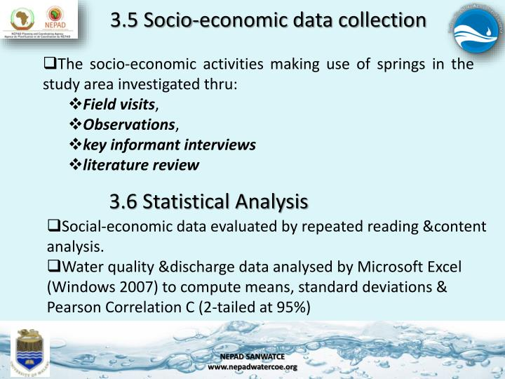 3.5 Socio-economic data collection