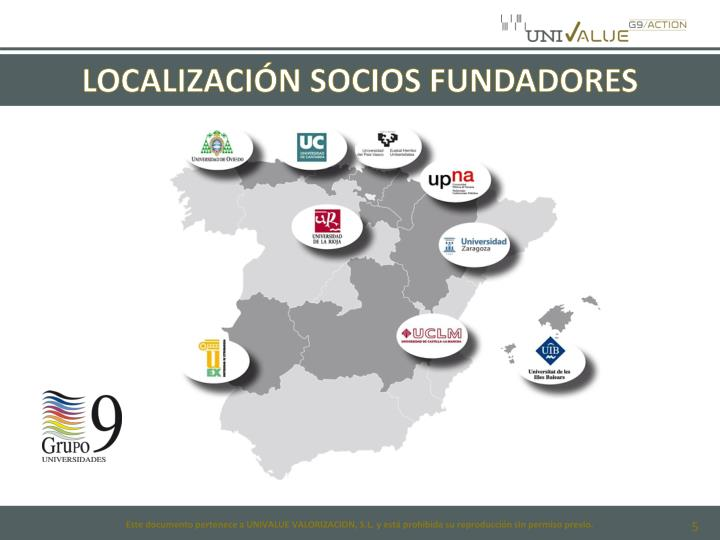 LOCALIZACIÓN SOCIOS FUNDADORES