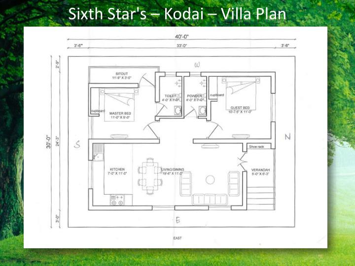 Sixth Star's – Kodai – Villa Plan