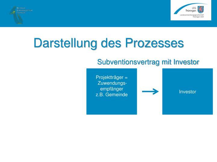 Darstellung des Prozesses