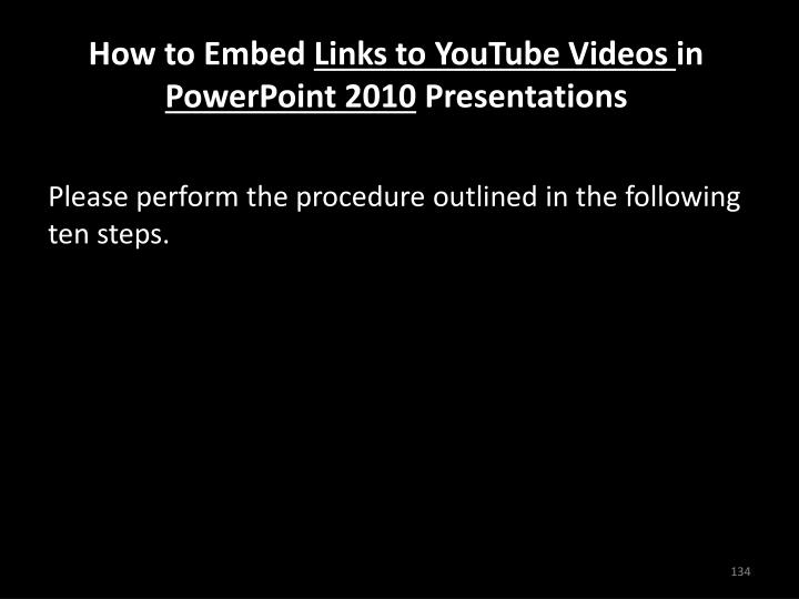 How to Embed