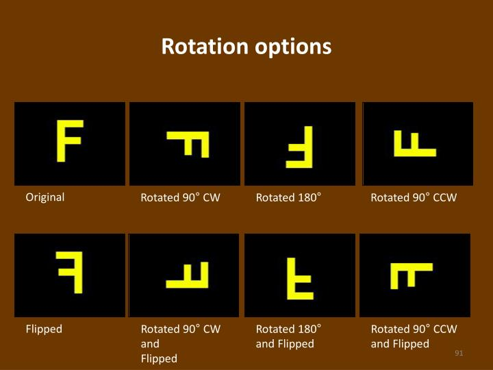 Rotation options