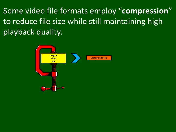 Some video file formats employ ""