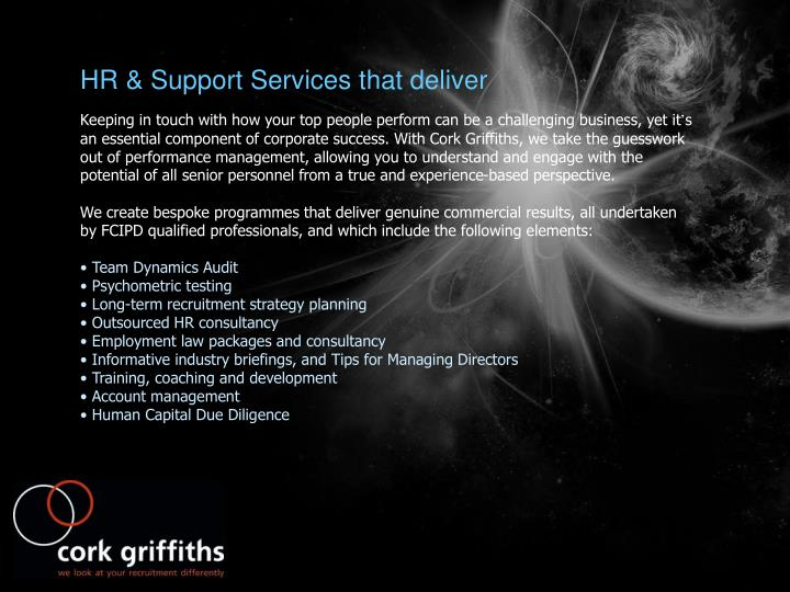 HR & Support Services that deliver