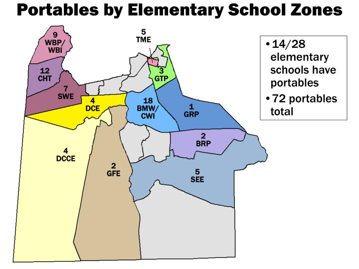 Portables by Elementary School Zones
