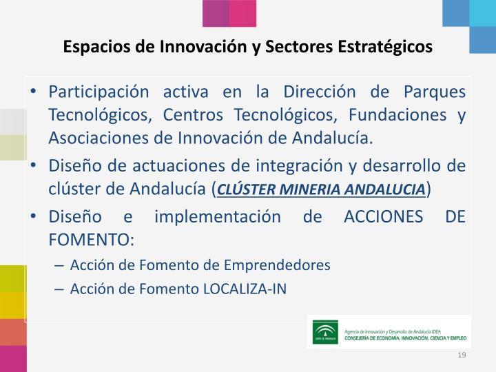 Espacios de Innovación y Sectores Estratégicos