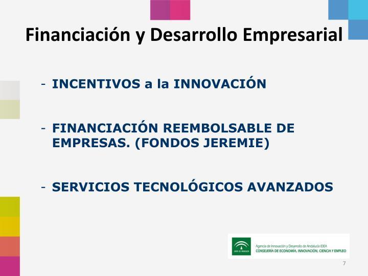 Financiación y Desarrollo Empresarial