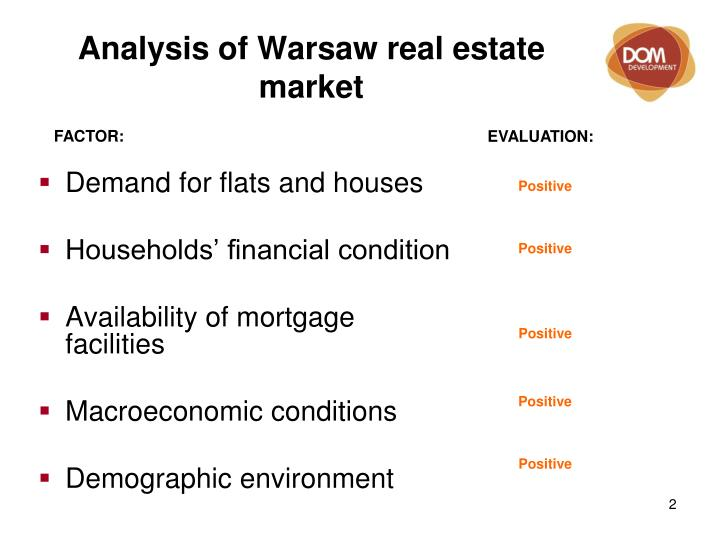 Analysis of Warsaw real estate market
