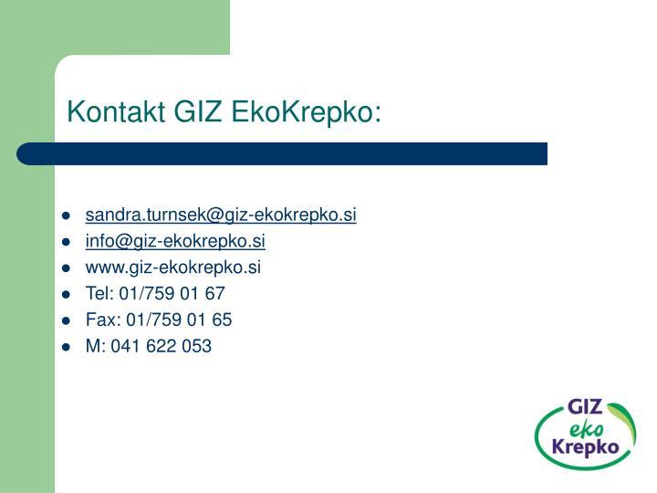 Kontakt GIZ EkoKrepko: