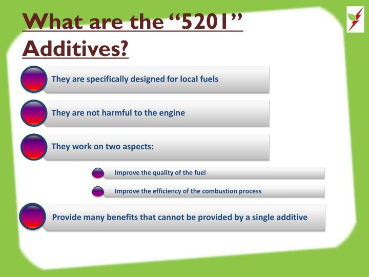 """What are the """"5201"""" Additives?"""