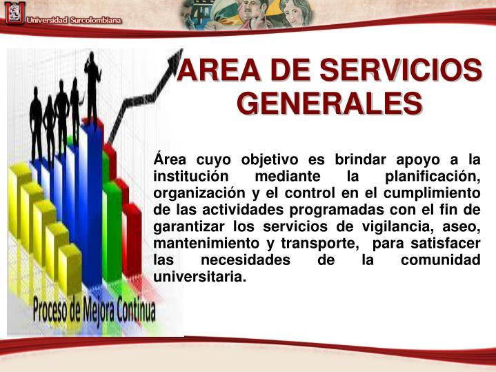 AREA DE SERVICIOS GENERALES