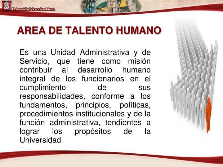 AREA DE TALENTO HUMANO