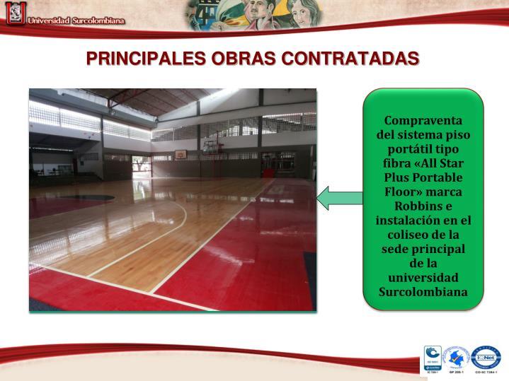 PRINCIPALES OBRAS CONTRATADAS